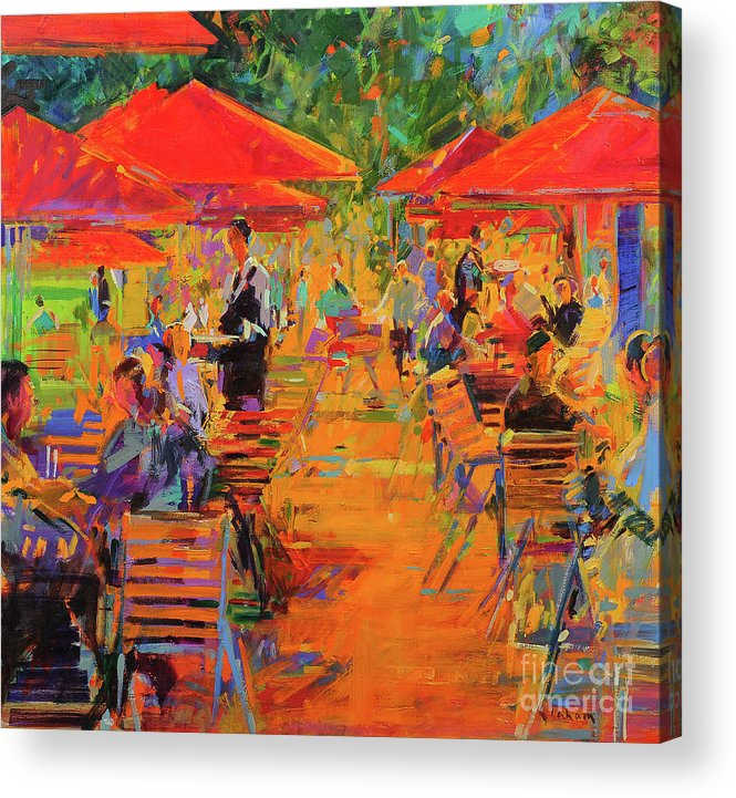 Restaurant Acrylic Print featuring the painting Le Jardin Des Tuileries by Peter Graham