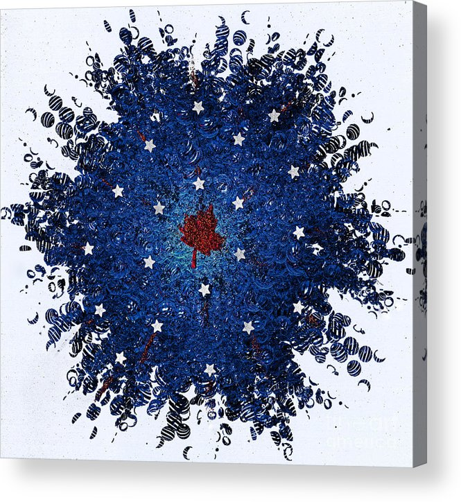 First Star Art By Jrr And Jammer Acrylic Print featuring the mixed media Dual Citizenship 1 by First Star Art