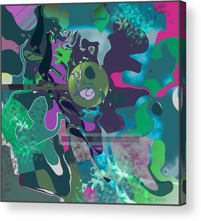 Abstract Acrylic Print featuring the digital art Green Place by Stephan Chmilnitzky