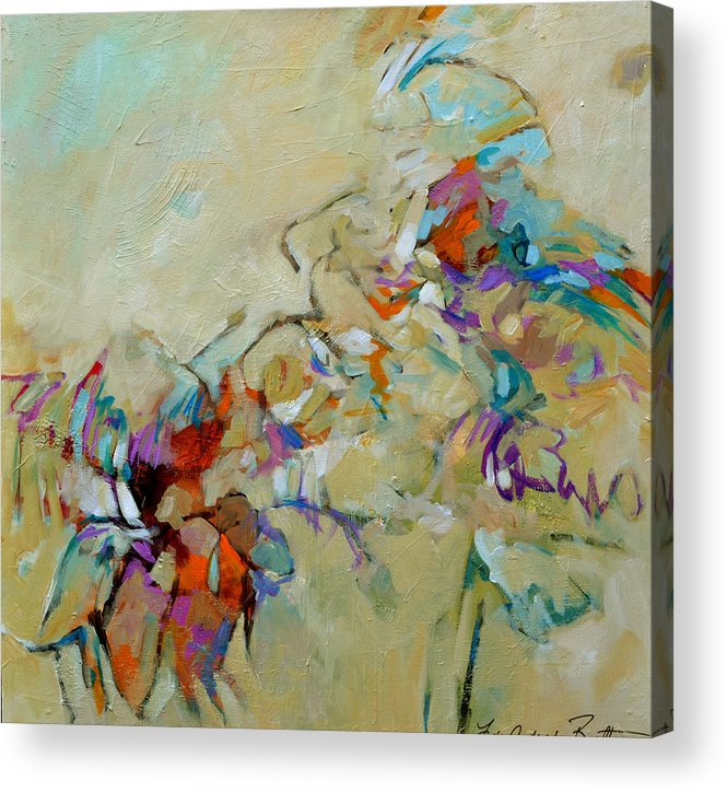 Abstract Acrylic Print featuring the painting The Last Day Of Summer by Filomena Booth