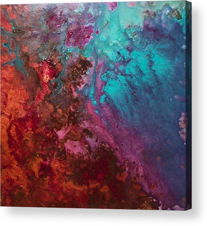 Aquatic Acrylic Print featuring the painting Carmen by Jess Thorsen