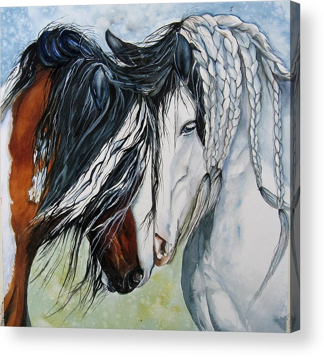 Equine Acrylic Print featuring the painting Companions by Gina Hall