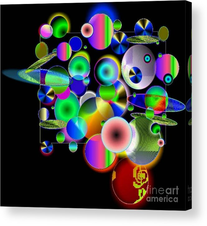 Concept Art Acrylic Print featuring the digital art Designers New Drum Kit by Brenda L Spencer