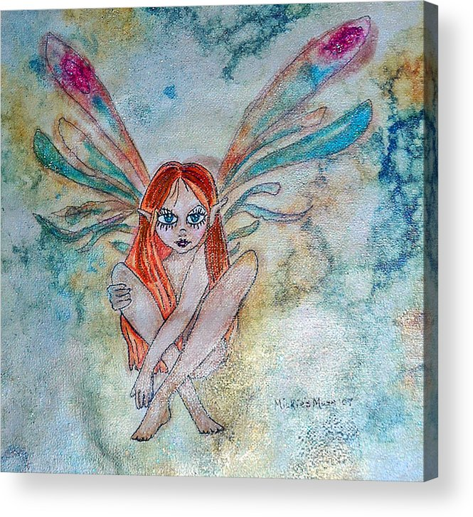 Fairy Acrylic Print featuring the painting Fairy Dust by Mickie Boothroyd