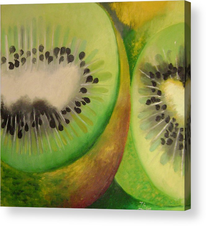 Abstract Acrylic Print featuring the painting Green Ecstasy 2 by Lian Zhen