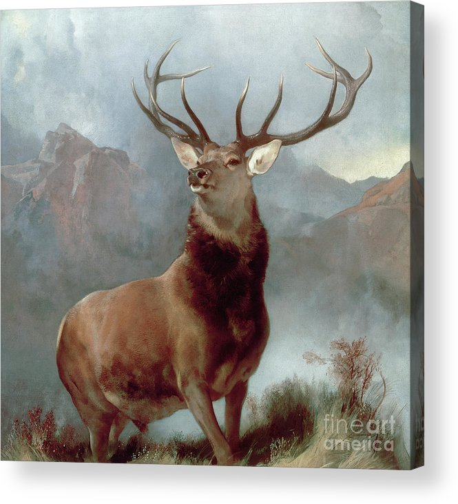 Monarch Acrylic Print featuring the painting Monarch Of The Glen by Sir Edwin Landseer