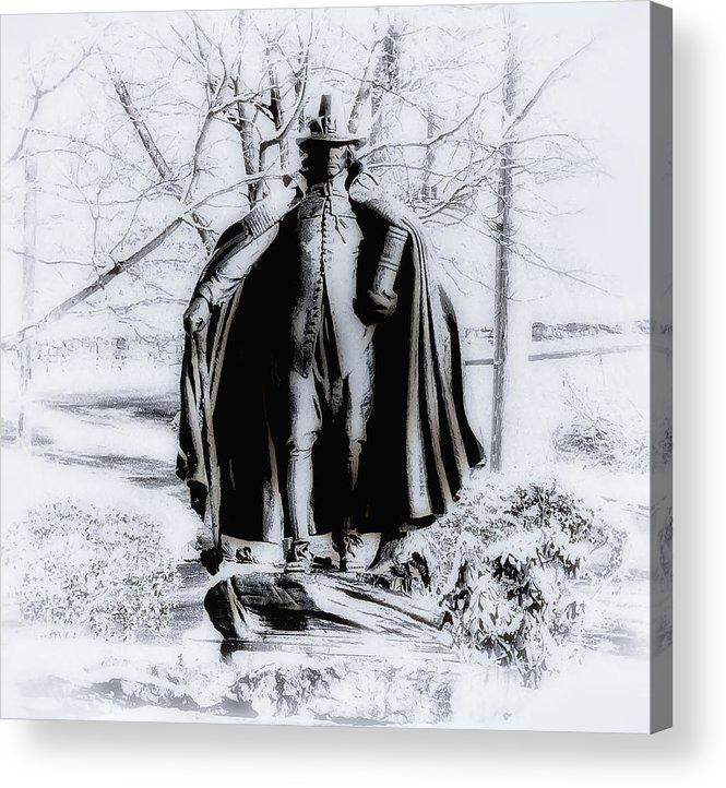 Fairmount Park Acrylic Print featuring the photograph Quaker Pilgrim by Bill Cannon