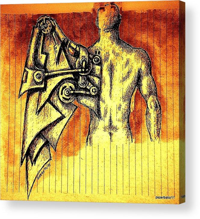Robotics Acrylic Print featuring the digital art Robotics by Paulo Zerbato