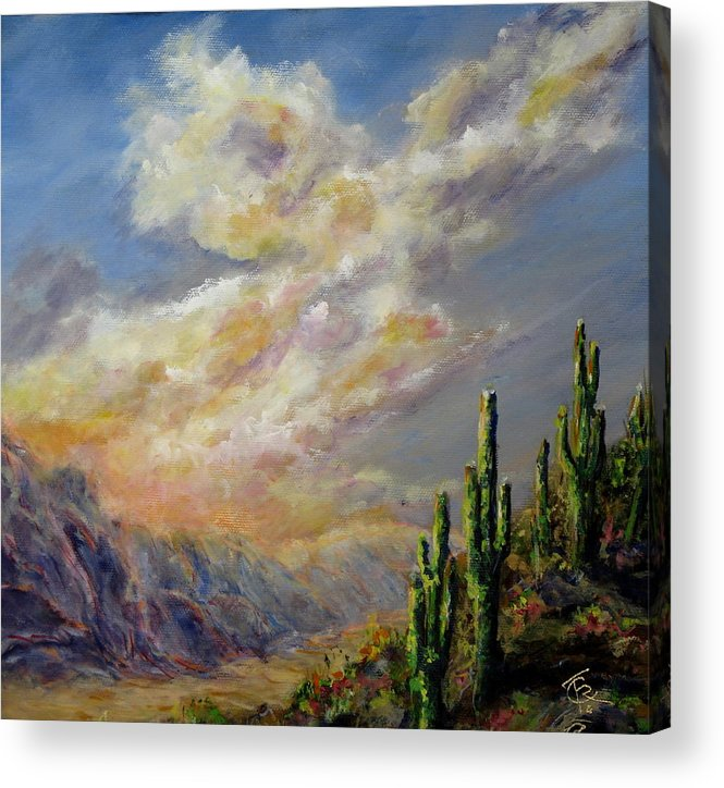 Larizona Andscape Acrylic Print featuring the painting Summer Sunrise by Thomas Restifo