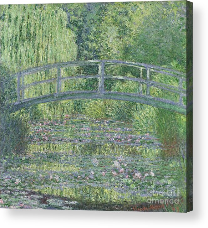 The Acrylic Print featuring the painting The Waterlily Pond by Claude Monet