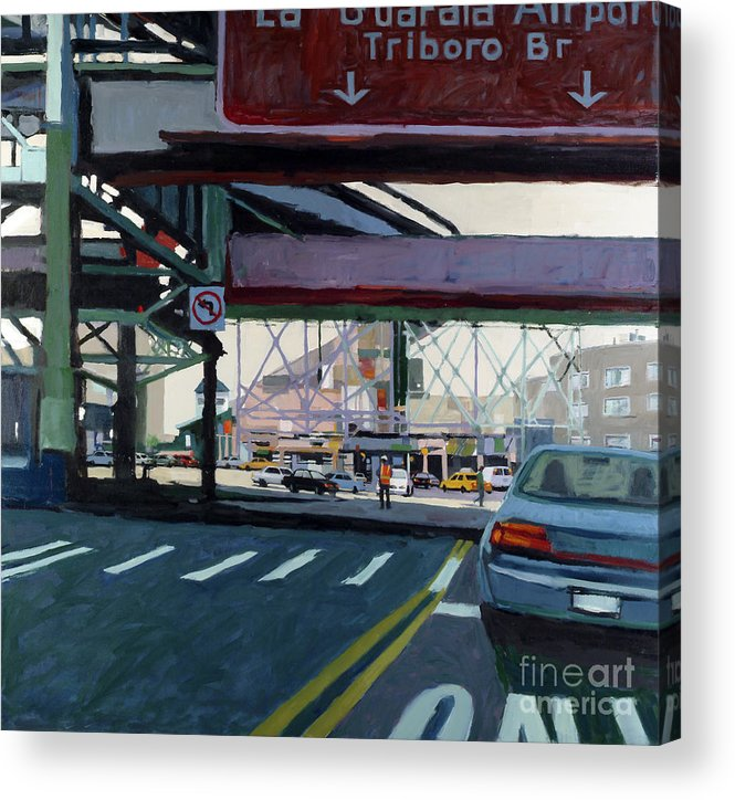Urban Acrylic Print featuring the painting To The Triboro by Patti Mollica