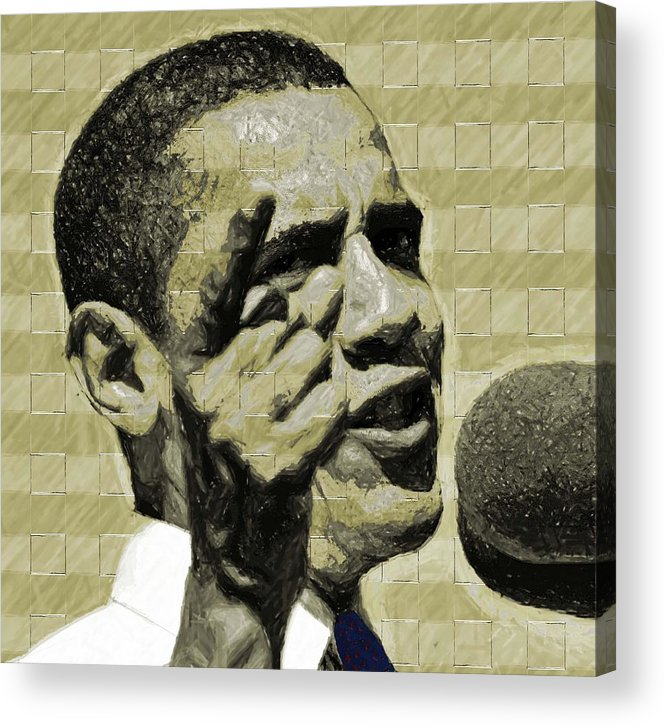 Barack Acrylic Print featuring the digital art Tomorrows Hope by LeeAnn Alexander
