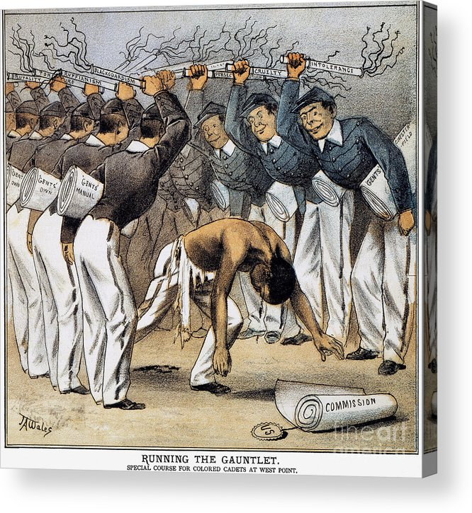 1880 Acrylic Print featuring the photograph West Point Cartoon, 1880 by Granger
