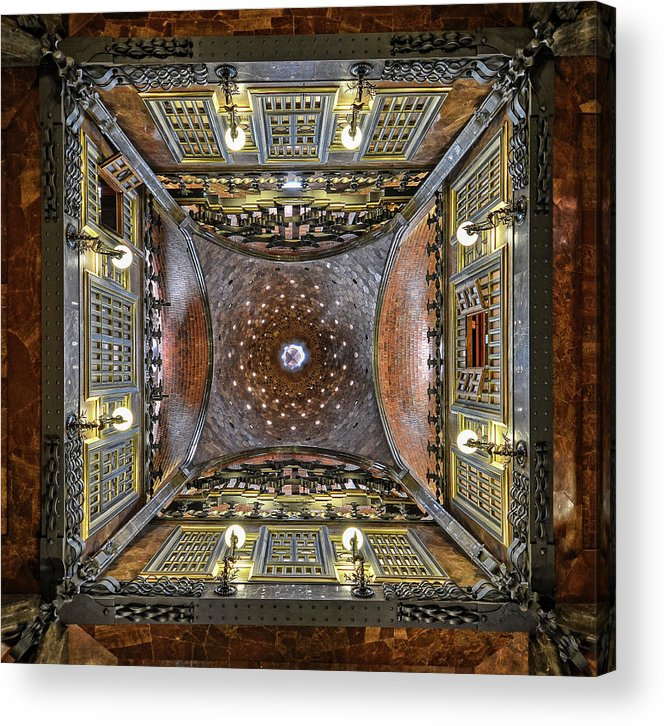 Barcelona Acrylic Print featuring the photograph Looking Up by Renate Reichert