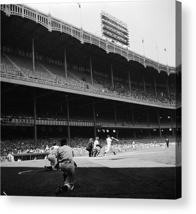 Motion Acrylic Print featuring the photograph Yankee Stadium by Douglas Grundy