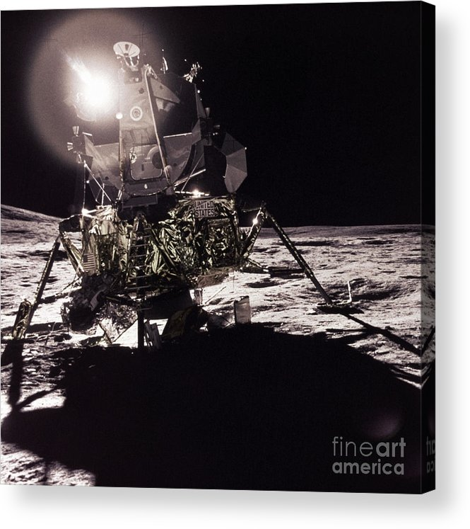 Transport Acrylic Print featuring the photograph Apollo 17 Moon Landing by Science Source