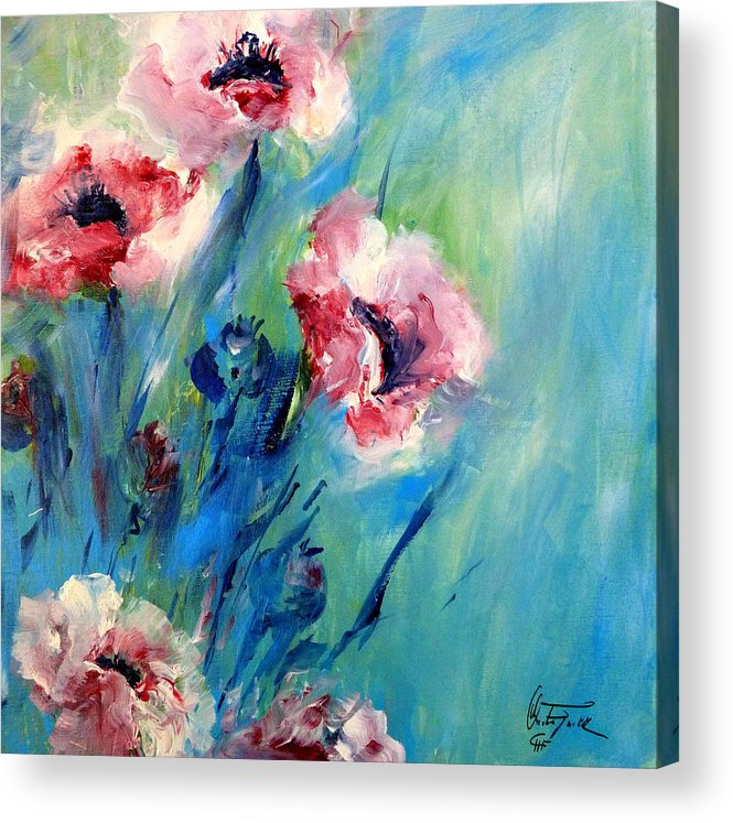 Acrylics Acrylic Print featuring the painting Poppies by Christa Friedl