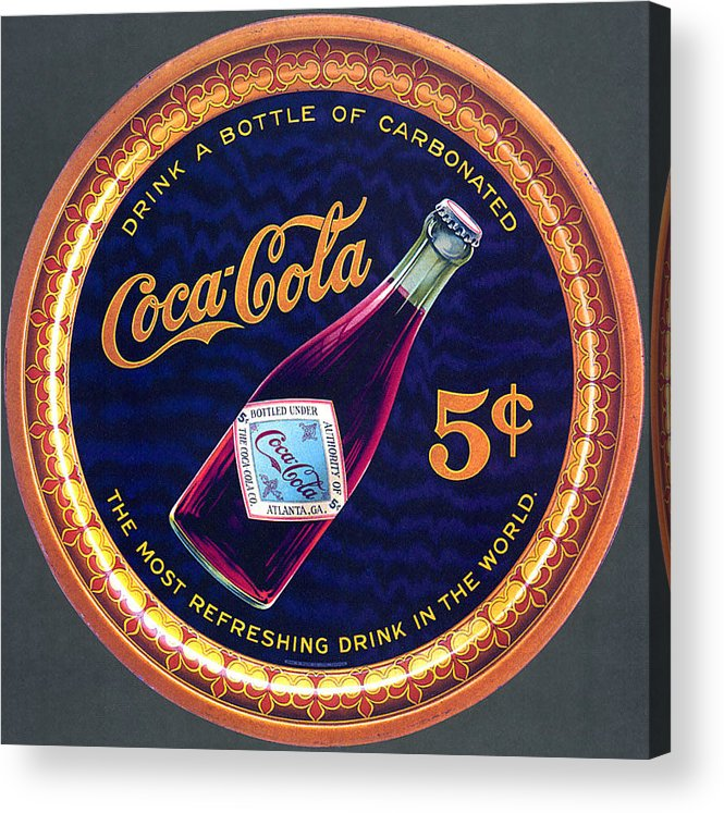 Coca Cola Acrylic Print featuring the photograph Coca - Cola Vintage Poster by Gianfranco Weiss