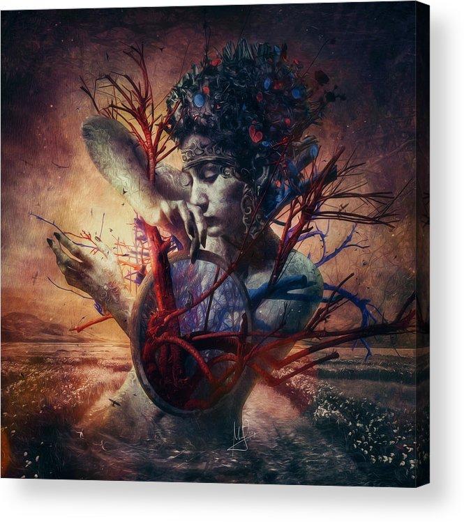 Love Acrylic Print featuring the mixed media Blossom by Mario Sanchez Nevado