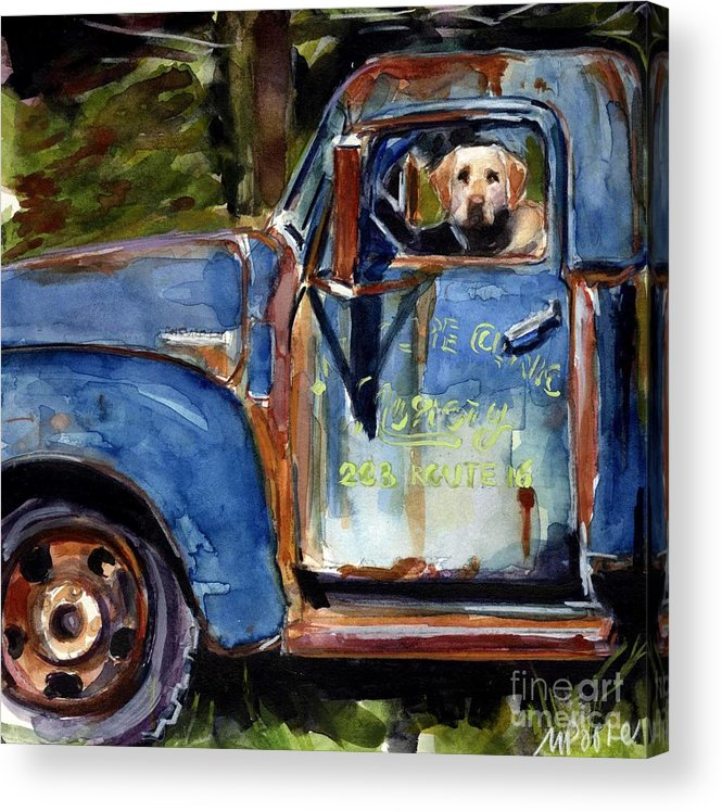Dog Acrylic Print featuring the painting Farmhand by Molly Poole