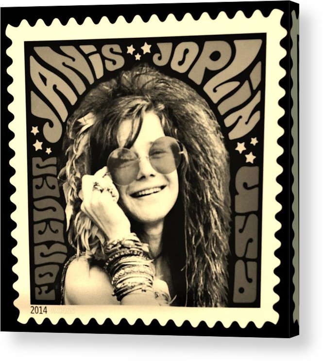 Janis Acrylic Print featuring the photograph Janis Stamp In A Sepia Vibe by Rob Hans