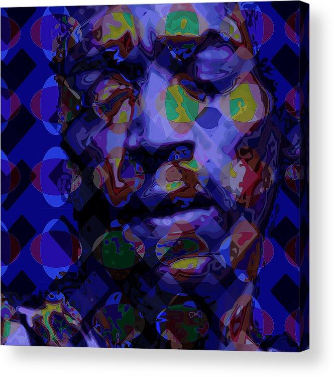 Portrait Acrylic Print featuring the digital art Jimi Hendricks by Scott Davis