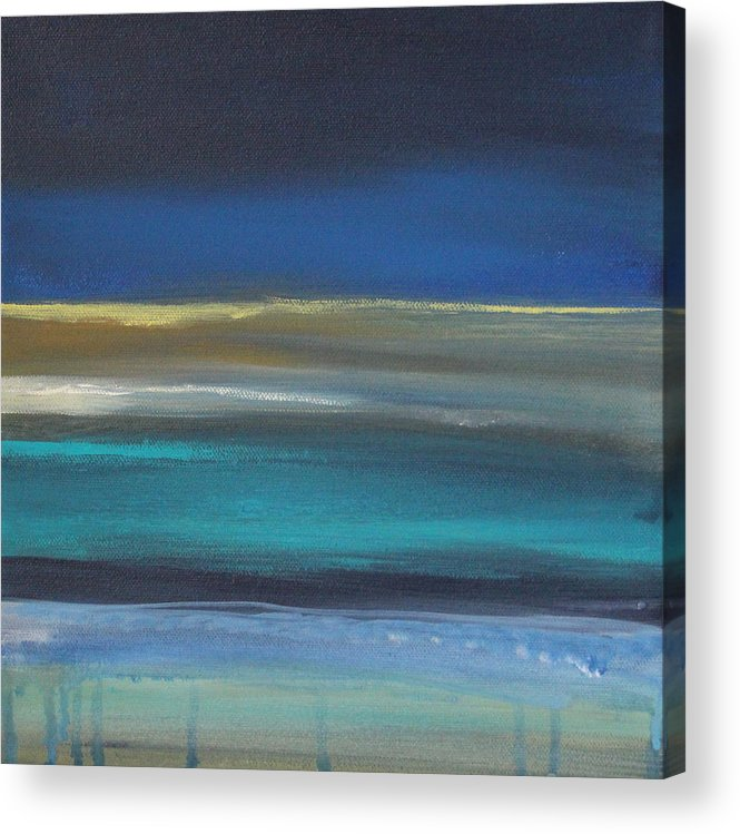 Abstract Painting Acrylic Print featuring the painting Ocean Blue 2 by Linda Woods