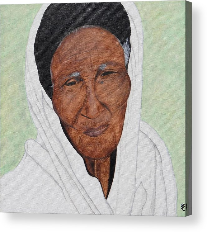 Ethiopia Acrylic Print featuring the painting Strength by Kurler Warner