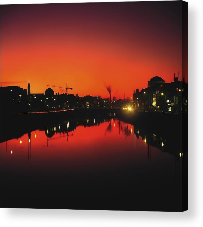 Atmosphere Acrylic Print featuring the photograph River Liffey, Dublin, Co Dublin, Ireland by The Irish Image Collection