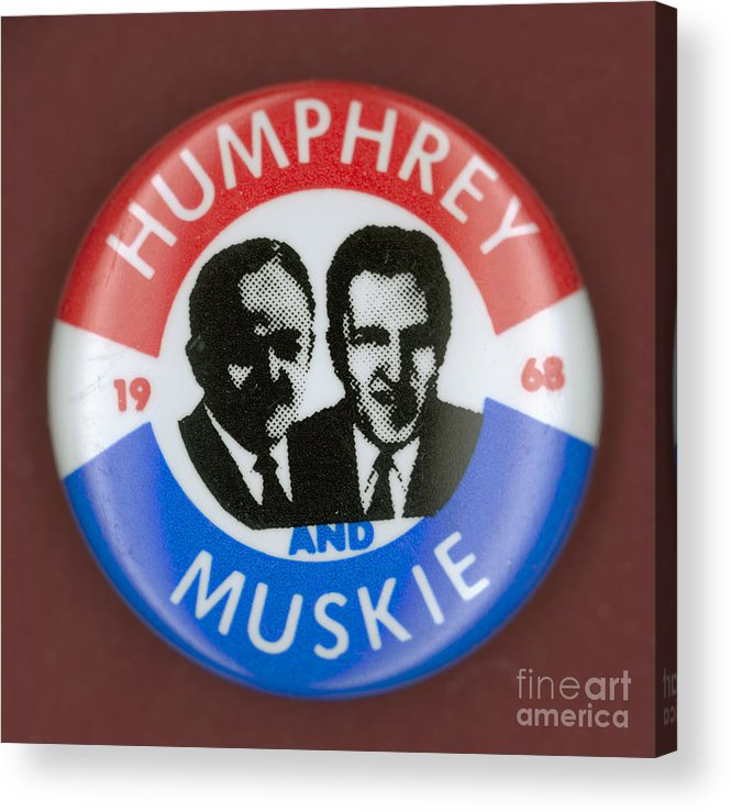 1968 Acrylic Print featuring the photograph Presidential Campaign, 1968 by Granger