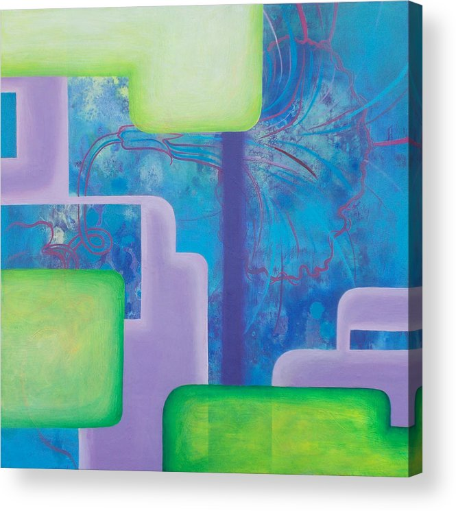 Morning Glory Acrylic Print featuring the painting Morning Glory by Monica James