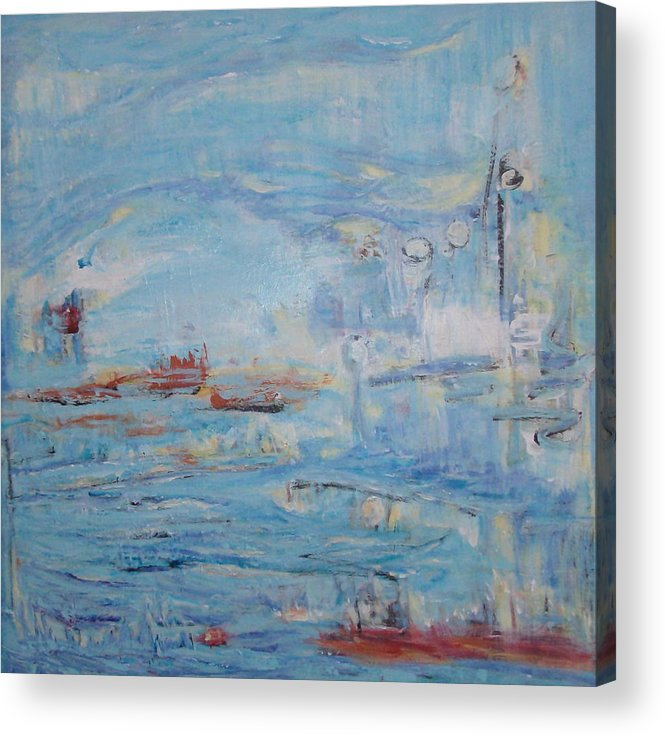Abstract Acrylic Print featuring the painting Secret 1 by Francine Ethier