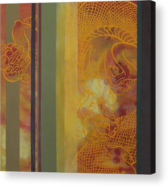 Snap Dragon Acrylic Print featuring the painting Snap Dragon by Monica James