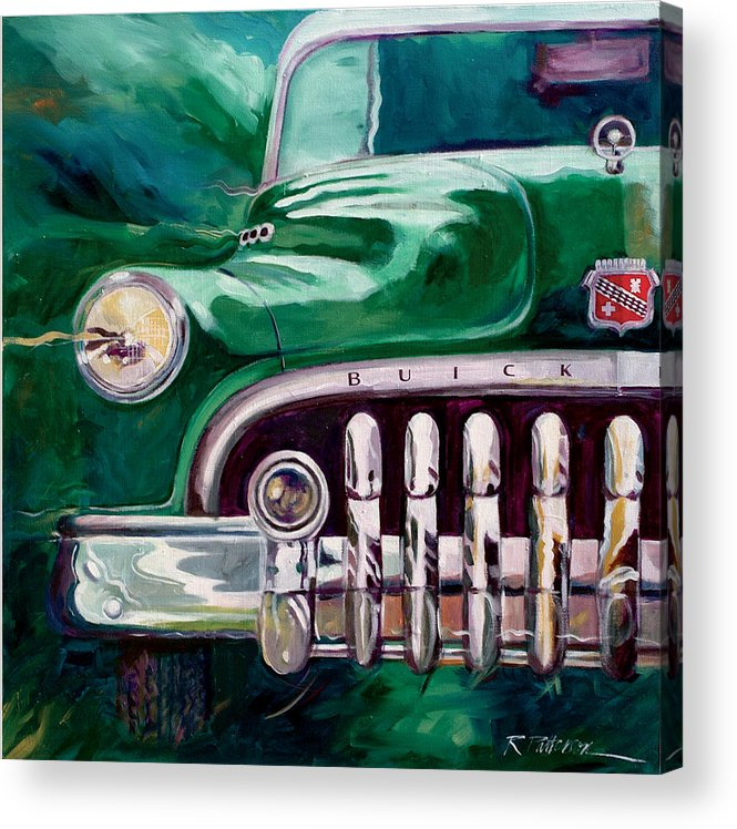 Transportation Acrylic Print featuring the painting 1950 Buick Roadmaster by Ron Patterson