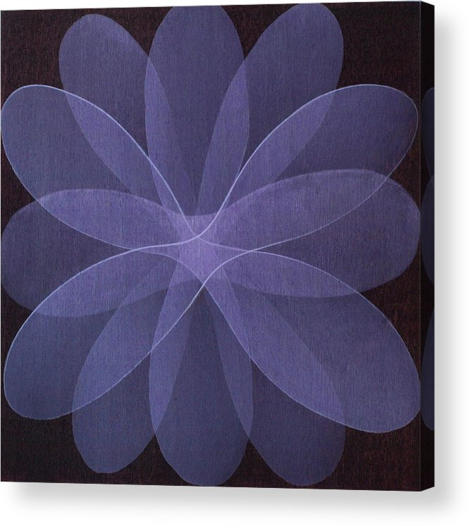 Abstract Acrylic Print featuring the painting Abstract Flower by Jitka Anlaufova