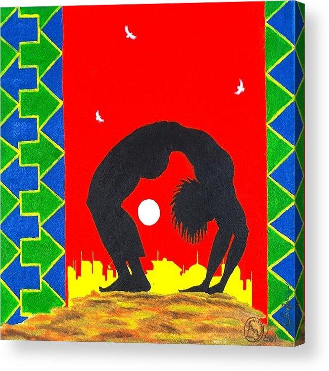 Maliksart Acrylic Print featuring the painting Uhuru Series by Malik Seneferu