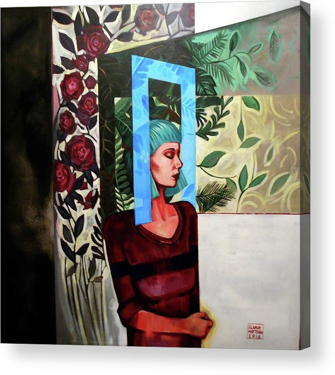 Thought Acrylic Print featuring the painting A Window Of Mind by Flamur Miftari