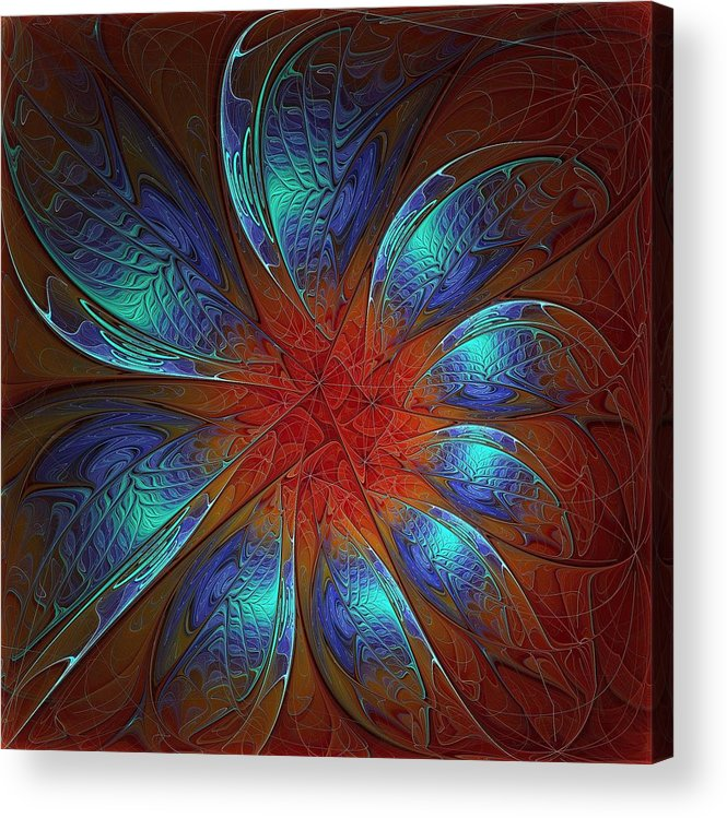 Digital Art Acrylic Print featuring the digital art Always And Forever by Amanda Moore