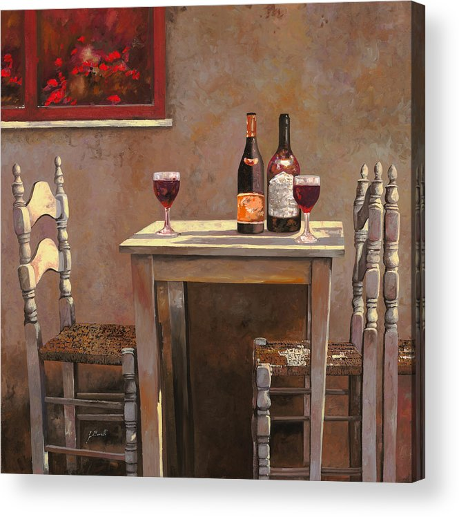 Wine Acrylic Print featuring the painting Barbaresco by Guido Borelli