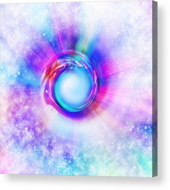 Space Acrylic Print featuring the painting Circle Eye by Setsiri Silapasuwanchai