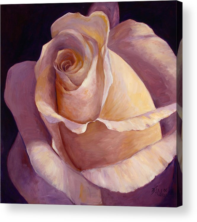 White Rose Acrylic Print featuring the painting Close To Perfection by Billie Colson