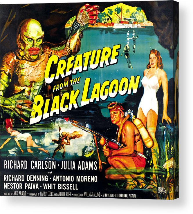 1950s Movies Acrylic Print featuring the photograph Creature From The Black Lagoon by Everett