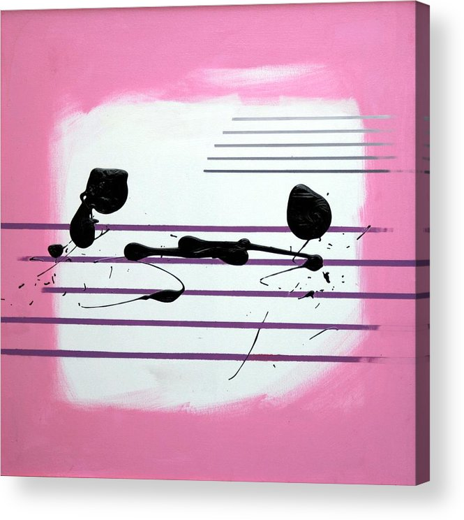 Abstract Acrylic Print featuring the painting Feelings by Mario Zampedroni