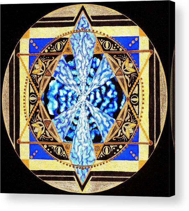 Mandala Acrylic Print featuring the painting From Within by Pam Ellis