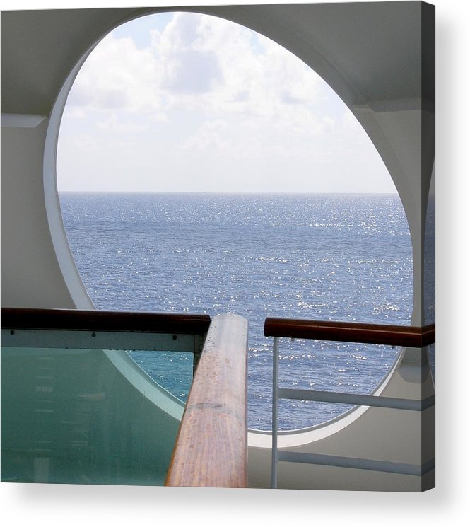 Ocean Acrylic Print featuring the photograph Looking Out by Kenna Westerman