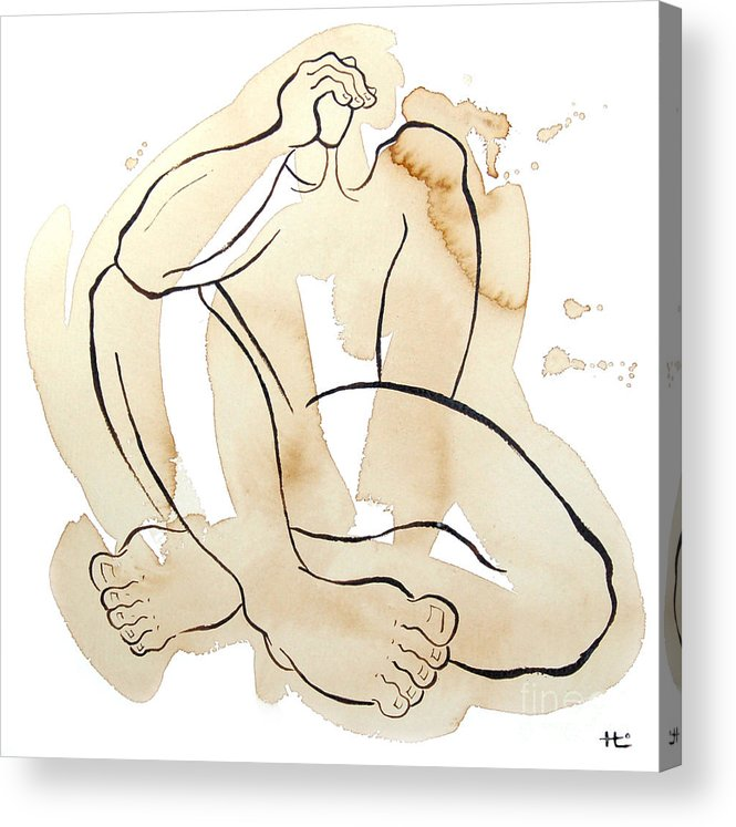 Body Acrylic Print featuring the painting Man 07 From When The Body Talks by Son Of the Moon