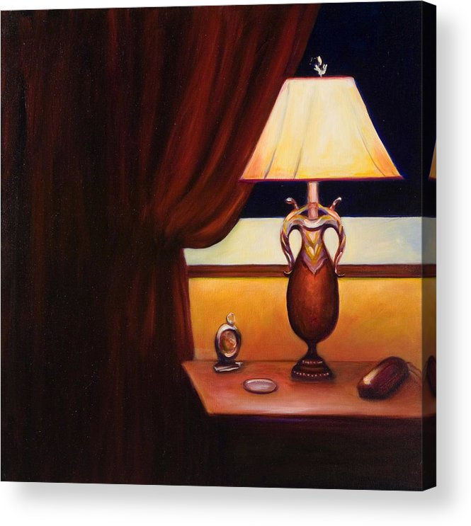 Still Life Red Acrylic Print featuring the painting Night by Shannon Grissom