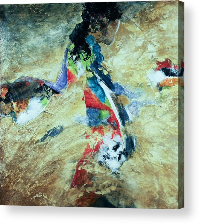 Peace Acrylic Print featuring the painting One World by Marie Baehr