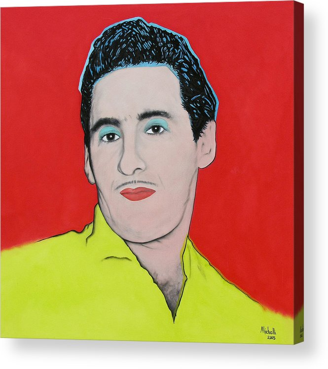 Portrait Acrylic Print featuring the painting Portrait Of My Father by Joe Michelli