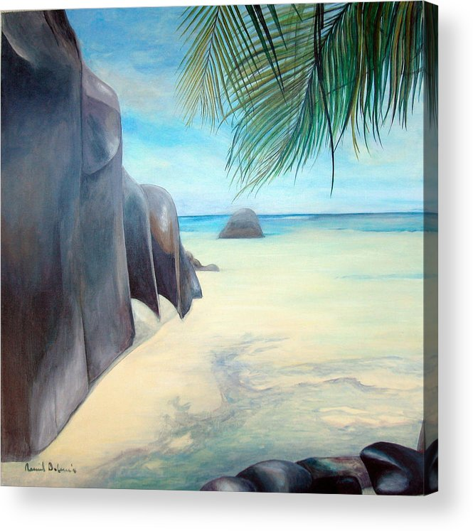 Paysage Acrylic Print featuring the painting Reve by Muriel Dolemieux